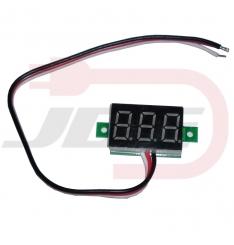 Mini voltmeter 100V - červený