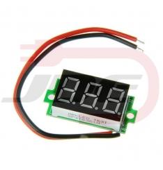 Mini voltmeter 30V - červený