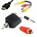 AV konektory - redukcie- káble